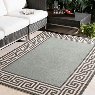 Meticulously Woven Annette Contemporary Bordered Indoor/Outdoor Area Rug (5'3 Round)