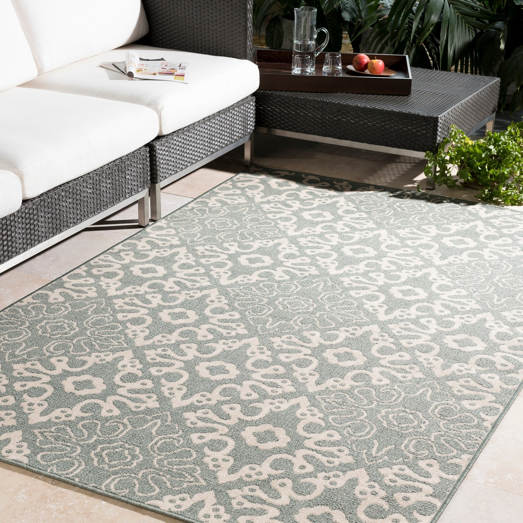 Overstock.com Meticulously Woven Olivia Contemporary Geometric Indoor/Outdoor Area Rug (5'3 Round) at Sears.com