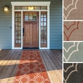 Meticulously Woven Natasha Contemporary Trellis Indoor/Outdoor Area Rug (2'3 x 11'9)