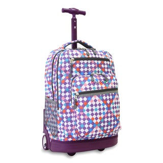 J World New York Checkmate Sundance Rolling 15-inch Laptop Backpack