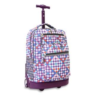 J World New York Checkmate Sundance Rolling 15-inch Laptop Backpack