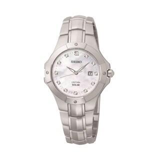 Seiko Women's SUT125 Solar Diamond Accent Watch