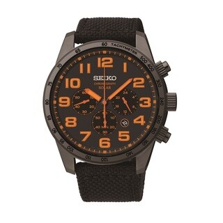Seiko Men's SSC223 Solar Powered Chronograph Watch