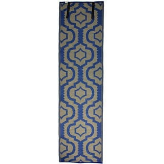 Christopher Knight Home Homesuite Outdoor Trellis Blue Runner Rug (2' x 8')