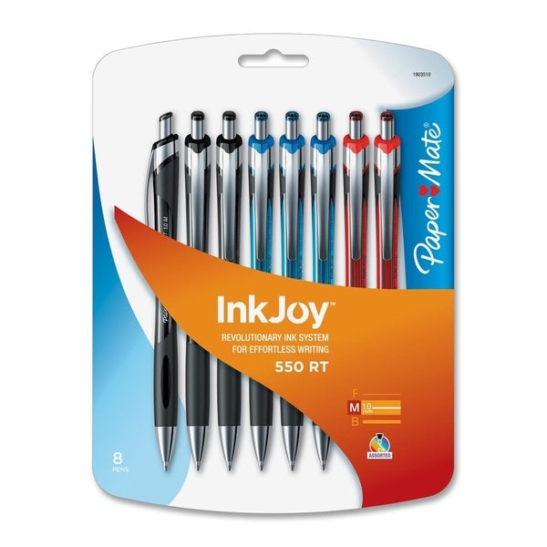 PaperMate InkJoy 550RT Retractable Ballpoint Pens (Pack of 8)