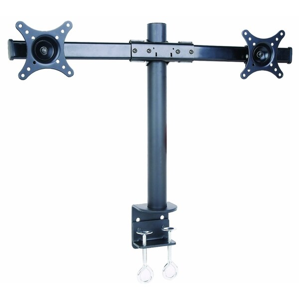 Mount-It! Dual Monitor Horizontal Desk Mount for up to 27-inch Monitors