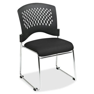 Lorell Black Stackable Chairs (Pack of 4)