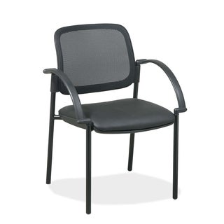 Lorell Black Mesh Back Guest Chair