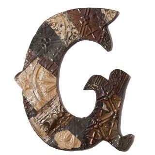 Ozark Folk Art Reclaimed Tin Letter G