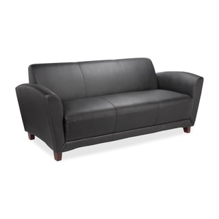 Lorell Black Bonded Leather Reception Sofa
