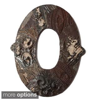 Ozark Folk Art Reclaimed Tin Letter O