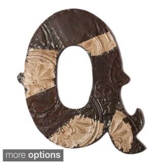 Ozark Folk Art Reclaimed Tin Letter Q