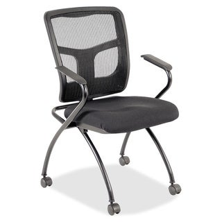 Lorell Mesh Back Fabric Seat Nesting Chair