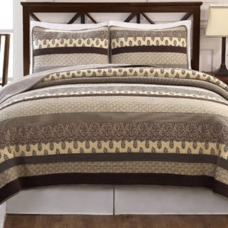 Kenyon Patchwork Cotton 3-piece Quilt Set