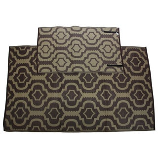 Christopher Knight Homesuite Brown Geometric Rug (5' x 8') with Bonus Trellis Carafe Runner (3' x 5')