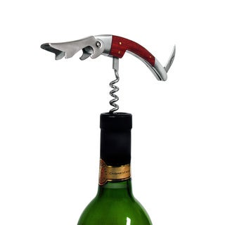 Epicureanist Waiter Style Corkscrew with Wood Handle
