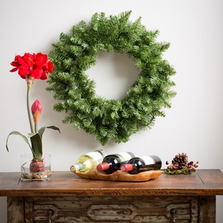 24-inch Unlit Aspen Wreath