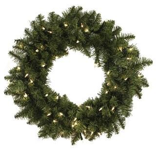 24-inch Pre-lit Aspen Wreath