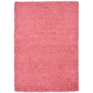 Pink Contemporary Shag Area Rug (3'3 x 4'7)
