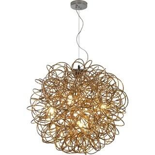 Mingle Extra Large Goldtone 8-light Pendant