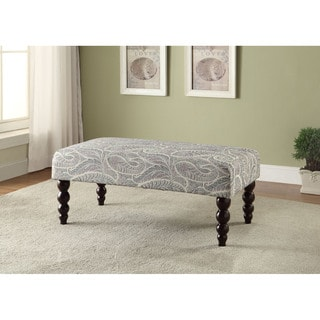 Claire Echo Gatsby Lupine Grey Fabric Ottoman Bench