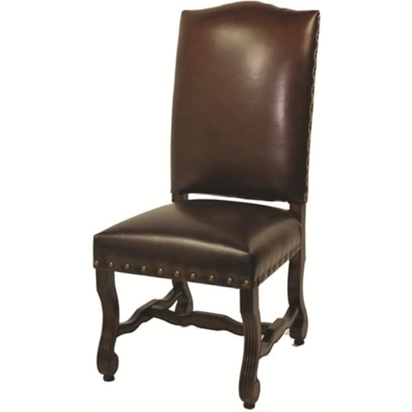 Leather Burgundy High Back Chair