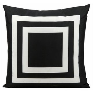 Nourison Mina Victory Black Indoor/ Outdoor 20-inch Throw Pillow