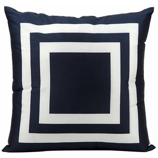 Nourison Mina Victory Navy Indoor/ Outdoor 20-inch Throw Pillow