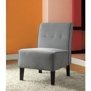 Linon Coco Mist Blue Fabric Accent Chair