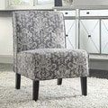 Linon Coco Grey Damask Accent Chair