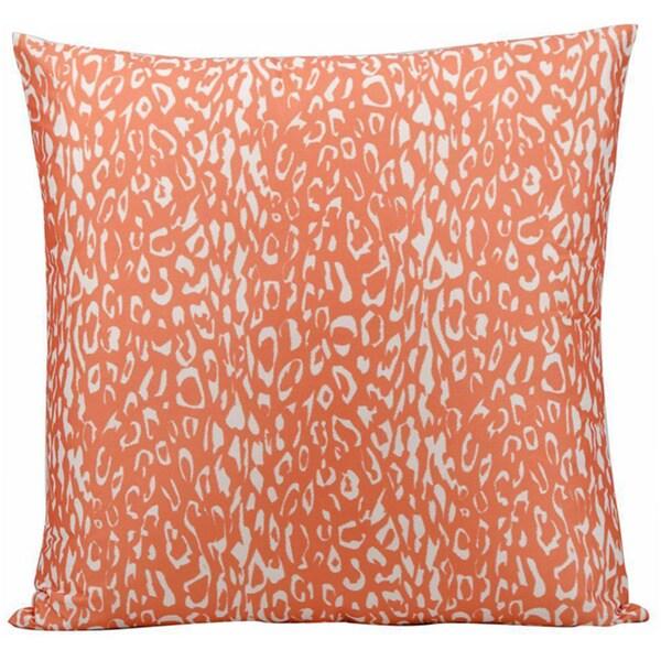 Nourison Mina Victory Orange Leopard Print Indoor/ Outdoor 20-inch Throw Pillow