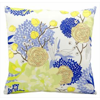 Nourison Mina Victory Blue Flowers Indoor/ Outdoor 18-inch Throw Pillow