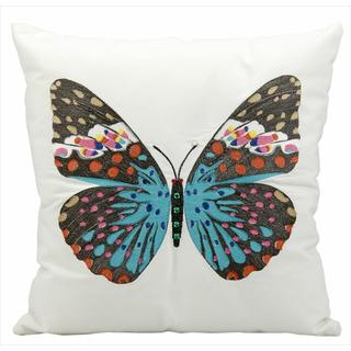 Nourison Mina Victory Turquoise Butterfly Indoor/ Outdoor 18-inch Throw Pillow