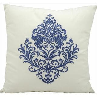 Nourison Mina Victory Ivory Blue Indoor/ Outdoor 18-inch Throw Pillow