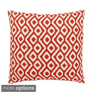 Coral Geometric Bimini Decorative Throw Pillow