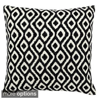 Black/ White Geometric Bora Bora Throw Pillow