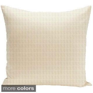 16 x 16-inch Geometric Micro-print Decorative Throw Pillow