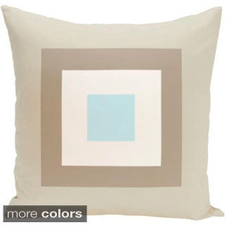 18 x 18-inch Geometric Print Decorative Throw Pillow