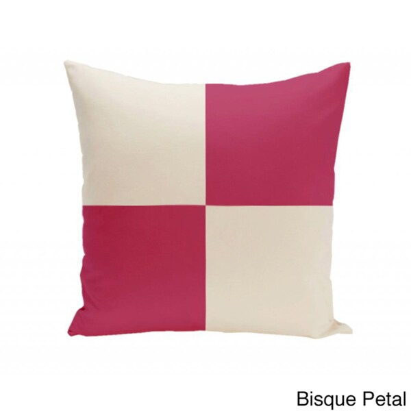 18 x 18-inch Large-scale Check Decorative Throw Pillow