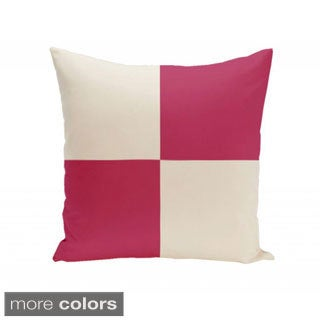 16 x 16-inch Large-scale Check Decorative Throw Pillow