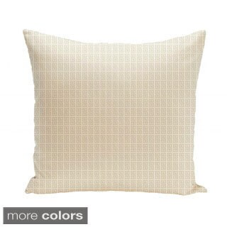 26 x 26-inch Oatmeal Micro Greek Key Print Decorative Throw Pillow