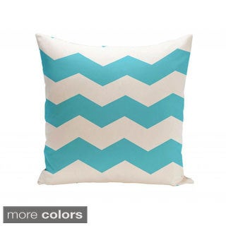 16 x 16-inch Two-tone Chevron Decorative Throw Pillow