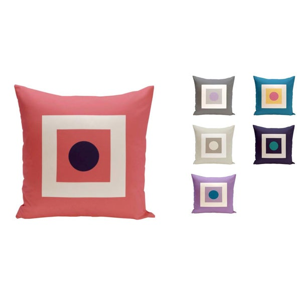 18 x 18-inch Square/ Dot Print Geometric Decorative Throw Pillow