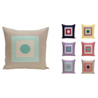 16 x 16-inch Dot/ Square Print Decorative Throw Pillow