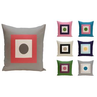 18 x 18-inch Dot/ Square Print Decorative Throw Pillow