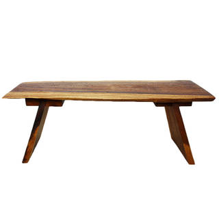 Hand-crafted Walnut Oil Acacia Wood Bench (Thailand)