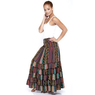 Women's Floral Printed Gypsy Skirt (India)