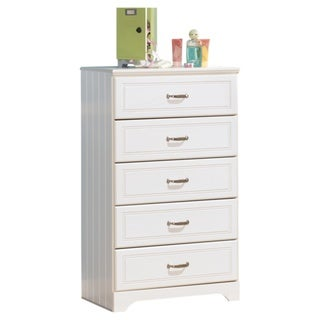 Signature Design by Ashley Lulu White Five-drawer Chest