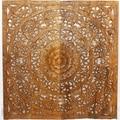 Hand-carved Teak Wood Lotus Wall Panels (Thailand)