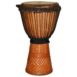 X8 Drums Small Diamond-carved Professional Djembe Druml (Indonesia)
